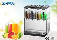 Four Tanks Cold Drink Dispenser Commercial / Juice Beverage Dispenser