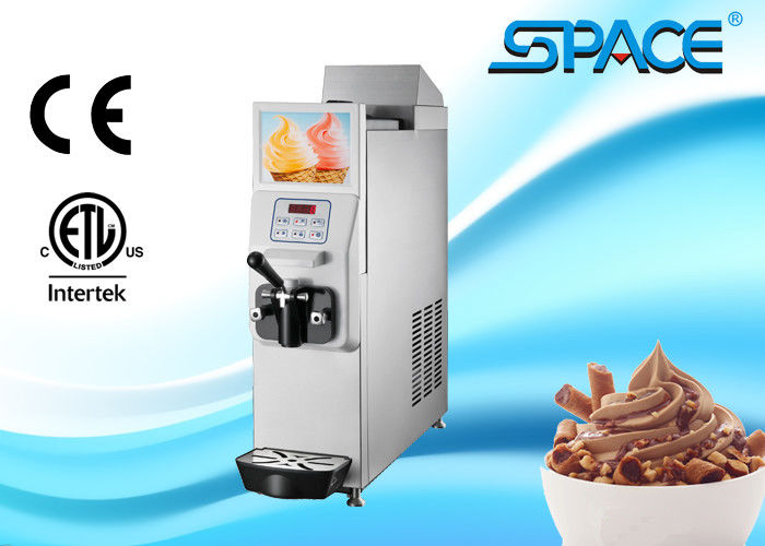 Countertop Soft Serve Ice Cream Machine , Single Flavor Mini Ice Cream Maker Machine