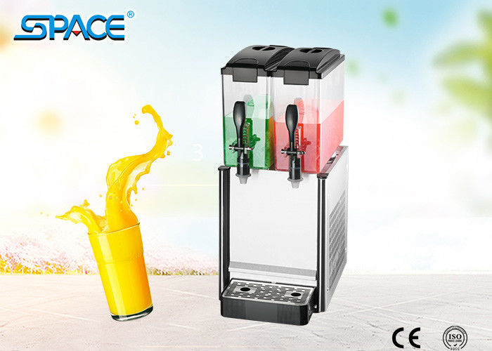Unbreakable Fruit Juice Dispenser Machine Twin Tanks CE Certification Passed