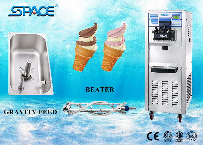 Commercial Soft Serve Three Flavor Ice Cream Machine Easy Operation