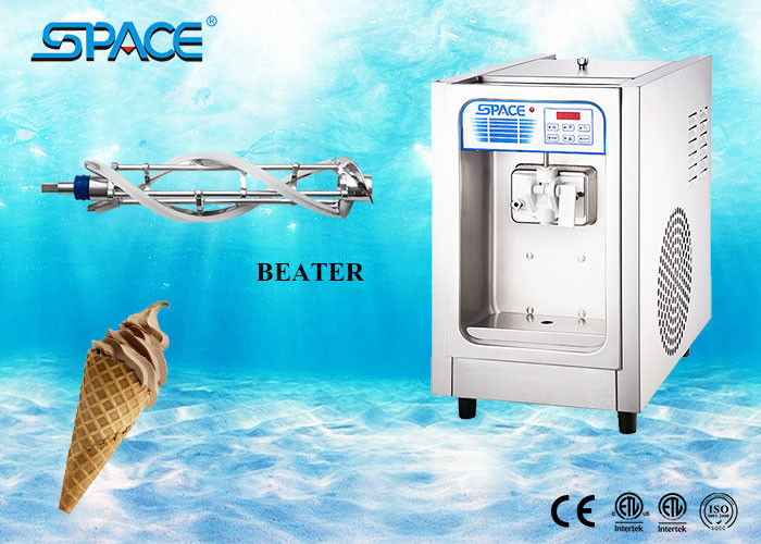 Commercial Ice Cream Making Machine , Table Top Ice Cream Maker Single Flavor